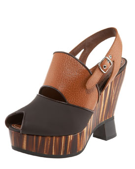 Proenza Schouler Striped-Wedge Sandal