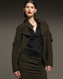 Key Item: Military Coat  -  Bergdorf Goodman :  antik denim incircle be d rock and republic jeans