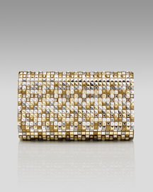 Judith Leiber Fizzy Studded Envelope Clutch