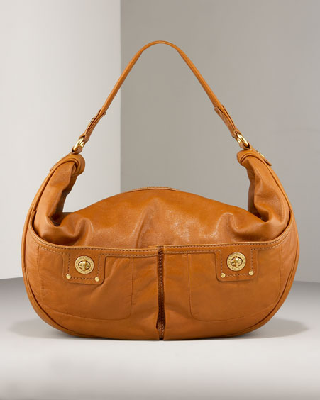 Mevie Hobo - caramel handbag - MARC by Marc Jacobs :  zip top leather handbag marc by marc jacobs leather handbags