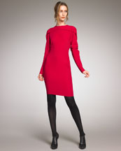 Lanvin Long-Sleeve Sheath Dress