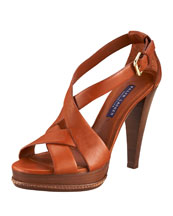 Ralph Lauren Carrie Leather Sandal