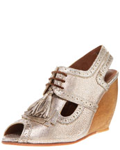 Rachel Comey Wooden-Wedge Kiltie Brogue