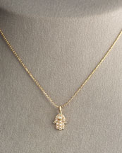 Sydney Evan Small Diamond Hamsa Necklace