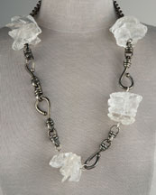 Paige Novick  Quartz Link Necklace :  necklace rocks long links