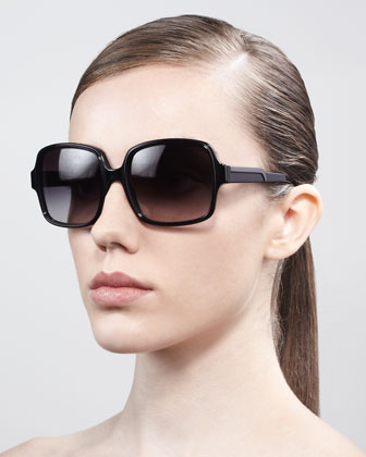 Square Sunglasses, Black