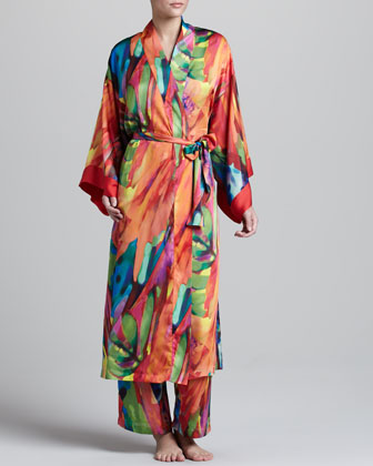 Bengal Printed Satin Robe