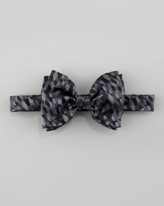 Camo Silk Bow Tie, Black