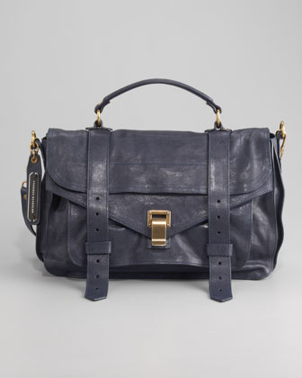 PS1 Medium Satchel Bag, Midnight