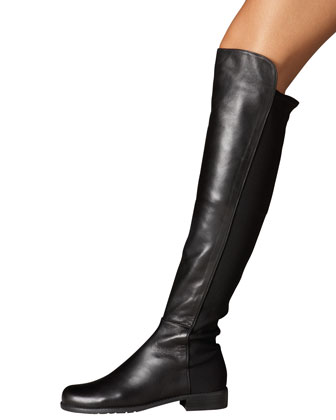 Leather and Suede OTK Boot