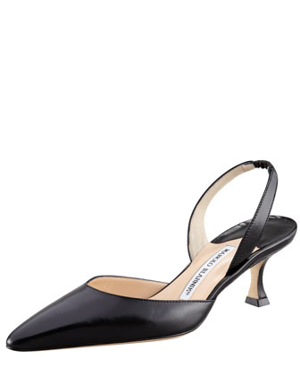 Kidskin Low-Heel Halter, Black