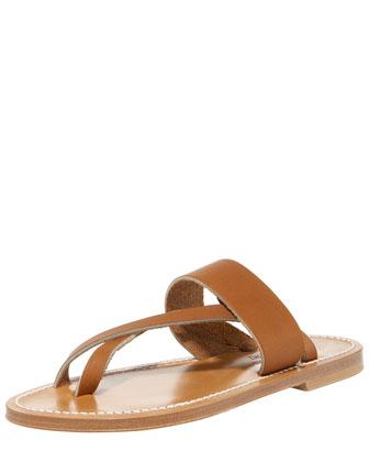 Crisscross Flat Thong Sandal