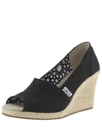 Canvas Espadrille Wedge