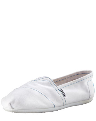 Classic Canvas Slip-On, White