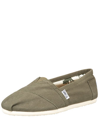 Classic Canvas Slip-On, Olive