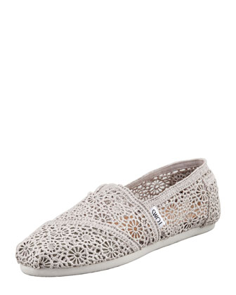 Crochet Slip-On, Silver