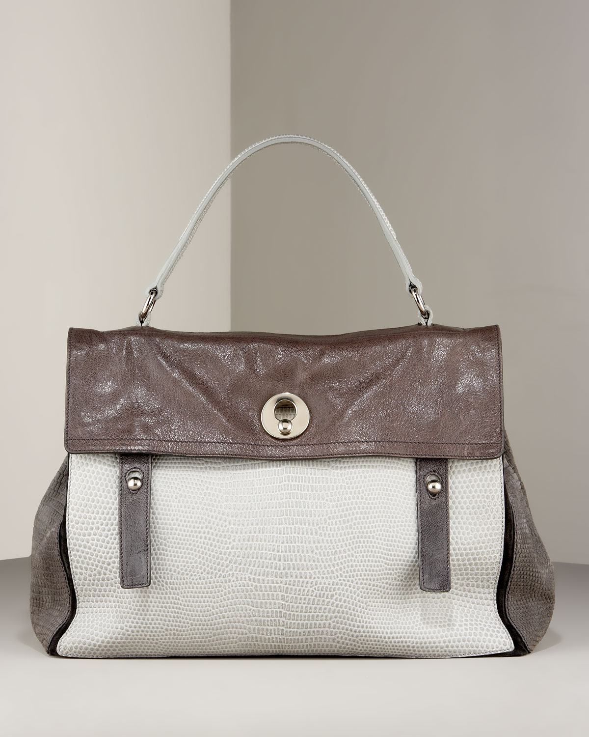 Muse Two-Flap Shoulder Bag - Yves Saint Laurent - Bergdorf Goodman :  lizard bergdorf goodman bag fall