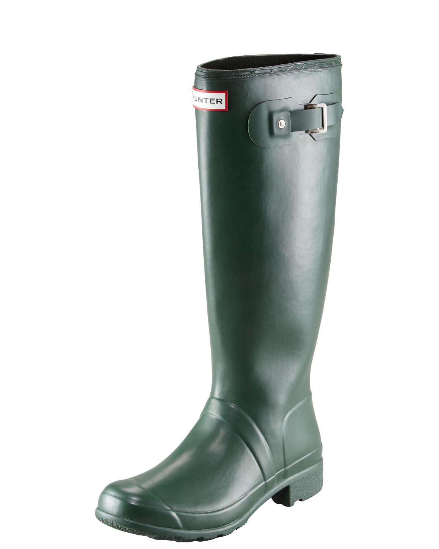 Hunter Boot Original Tour Buckled Welly Boot, Green, Women's, Size: 8B, Hunter Green